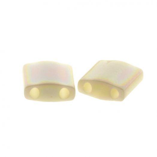 Miyuki Tila (5 x 5 mm) Ivory Pearl Ceylon AB (50 Stück)