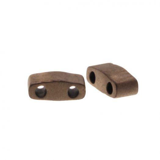 Miyuki Half Tila (5 x 2.3 mm) Matted Metallic Dk.Bronze (50 Stück)