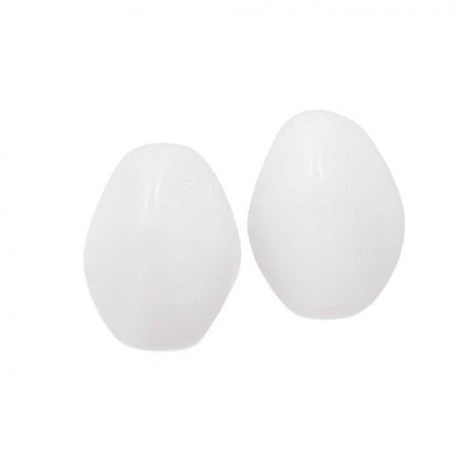 Pinch Beads (5 x 3 mm) Chalk White (5 Gramm / ca. 64 Stück)