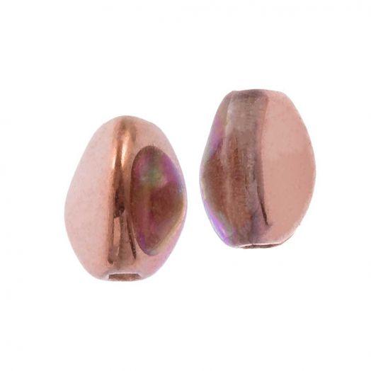 Pinch Beads (5 x 3 mm) Crystal Copper Rainbow (5 Gramm / ca. 64 Stück)