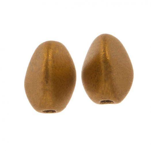 Pinch Beads (5 x 3 mm) Brass Gold (5 Gramm / ca. 64 Stück)