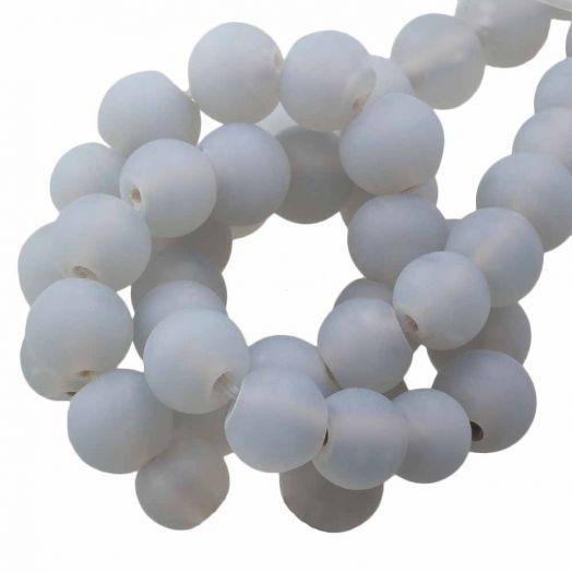 Glasperlen Matt (6 - 7 mm) Chalk Grey (35 Stück)
