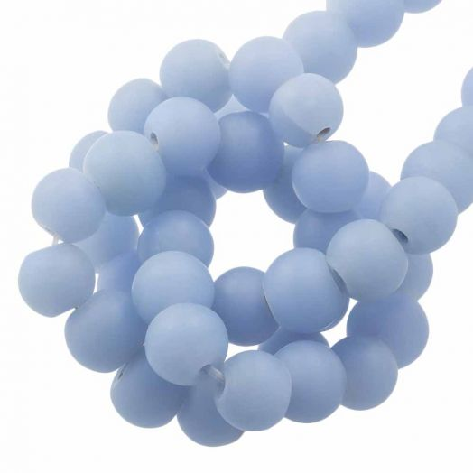 Glasperlen Matt (8 - 9 mm) Sky Blue (28 Stück)