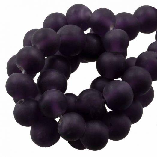 Glasperlen Matt (6 - 7 mm) Eggplant (35 Stück)