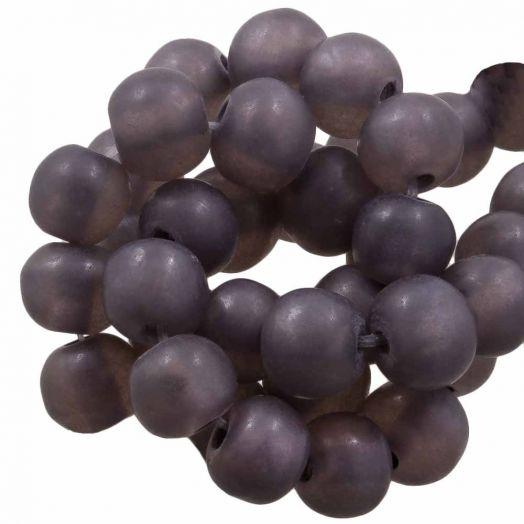 Kunstharz Perlen Mat (8 - 9 mm) Grape (20 Stück)