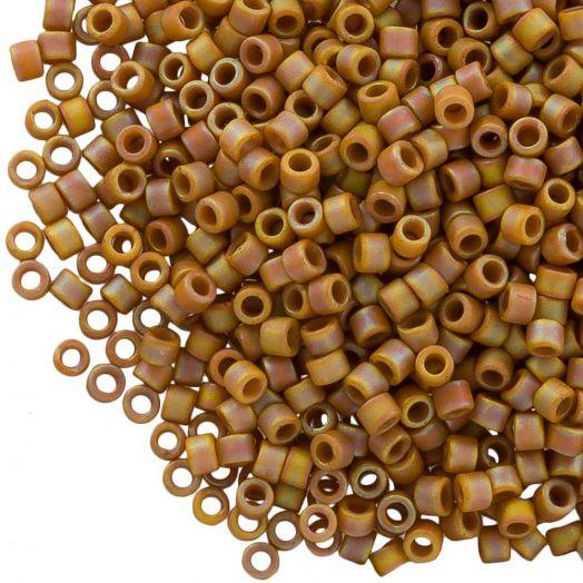 Miyuki Delica (11/0 mm) Matted OPQ Glazed Honey Bee AB (10 Gramm)
