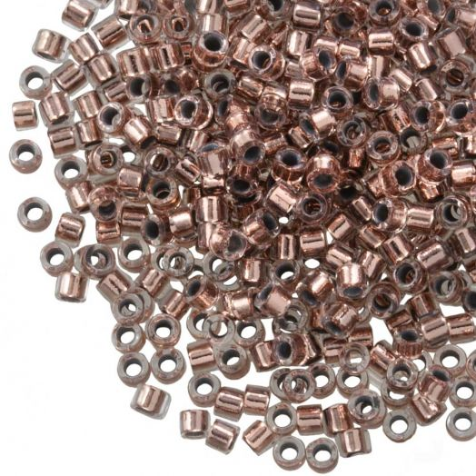 Miyuki Delica (11/0 mm) Copper Lined Crystal (10 Gramm)