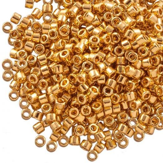 Miyuki Delica (11/0 mm) 24kt Gold Plated (10 Gramm)