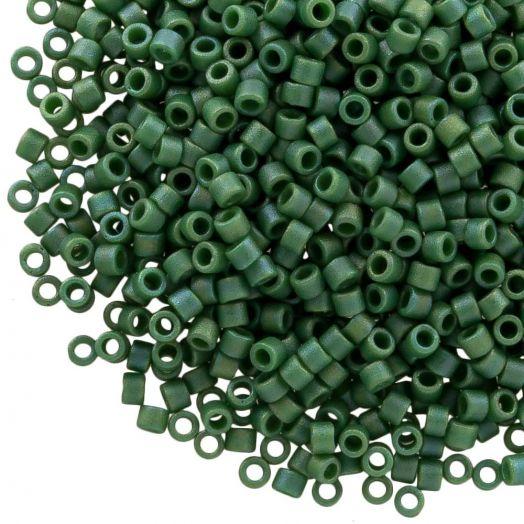 Miyuki Delica (11/0 mm) Matted Opq Glazed Turtle Green AB (10 Gramm)