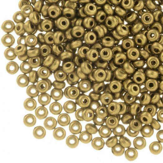 DQ Rocailles (2 mm) Antique Gold (10 Gramm / 1000 Stück)