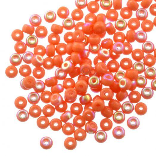 DQ Rocailles (4 mm) Bright Orange AB (25 Gramm / 350 Stück)