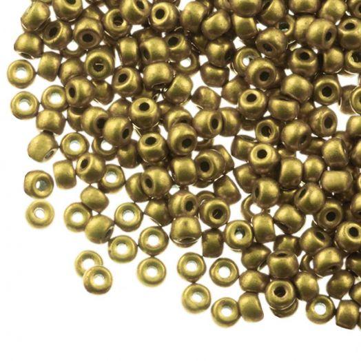 DQ Rocailles (3 mm) Antique Gold (25 Gramm / 600 Stück)