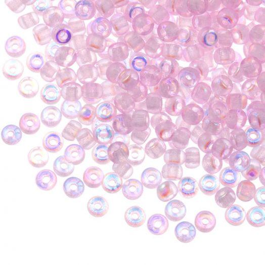 DQ Rocailles (3 mm) Pink AB (25 Gramm / 600 Stück)