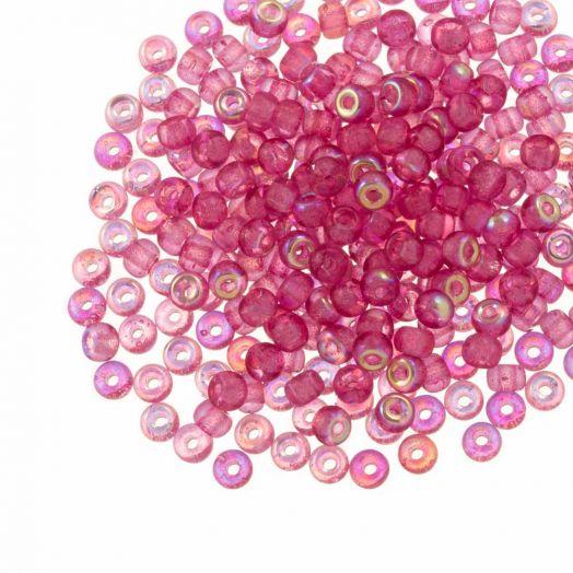 DQ Rocailles (3 mm) Candy Pink AB (25 Gramm / 600 Stück)
