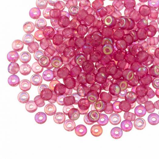 DQ Rocailles (4 mm) Candy Pink AB (25 Gramm / 350 Stück)