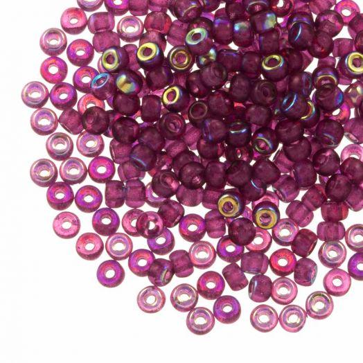 DQ Rocailles (4 mm) Mulberry Purple AB (25 Gramm / 350 Stück)