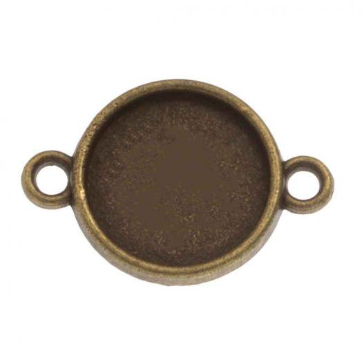 Fassung 2 Ösen (12 mm) Bronze (10 Stück)