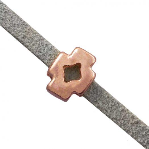 Schieber (Innenmaß 3 x 2 mm) Rose Gold (10 Stück)