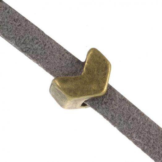 Schieber (Innenmaß 3 x 2 mm) Bronze (10 Stück)
