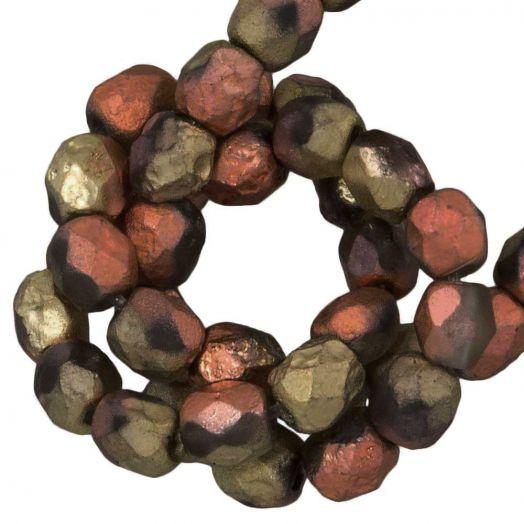 DQ Feuerpolierte Perlen (4 mm) California Gold Rush Dark (50 Stück)