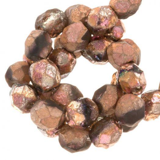 DQ Feuerpolierte Perlen (Capri Rose) 6 mm (25 Stück)