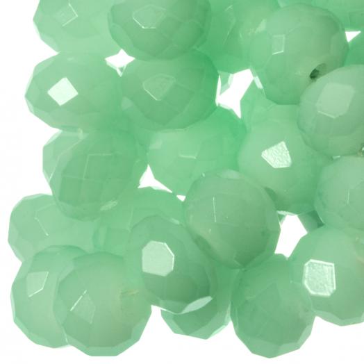 Facetperlen Rondell (2 x 3 mm) Mint Green (150 Stück)