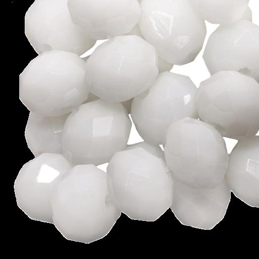 Facetperlen Rondell (3 x 4 mm) White (147 Stück)