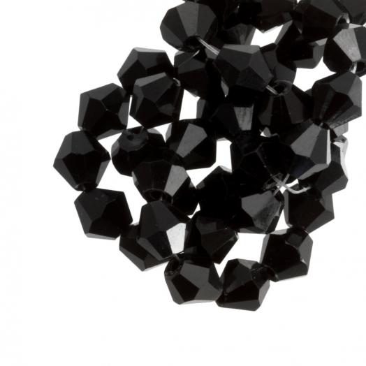 DQ Facetperlen Bicone (8 mm) Black (15 Stück)