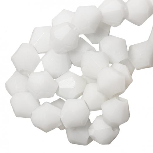 Facetperlen Bicone (6 mm) White (50 Stück)