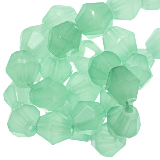Facetperlen Bicone (6 mm) Mint Green (50 Stück)