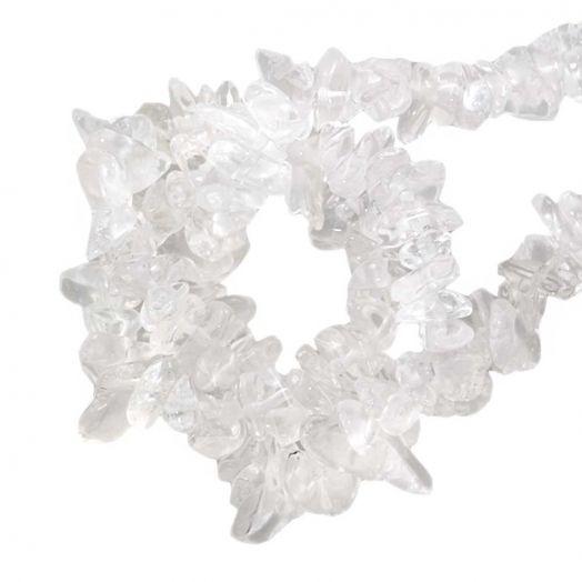Naturstein Splitterperlen (3 - 5 mm) Quartz (250 Stück)