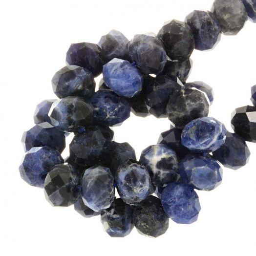 Sodalite Rondell Perlen (8 x 5 mm) 67 stück