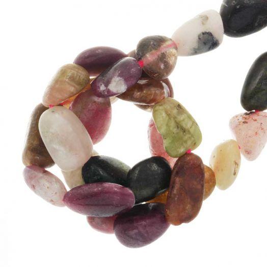 Tourmaline Perlen (8 - 12 x 7 - 8 x 4 - 5 mm) 45 stück