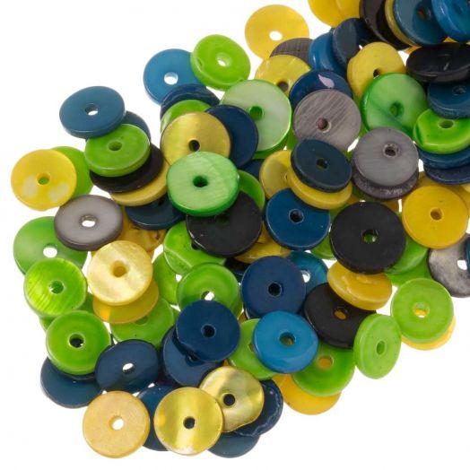Muschelperlen (8 mm) Mix Color (140 Stück)