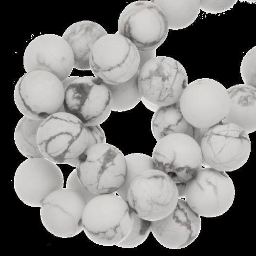 Howlite Frosted Perlen (6 mm) 60 Stück