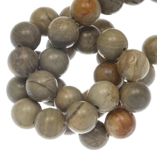 Silver Leaf Jaspis Perlen (6 mm) 60 Stück