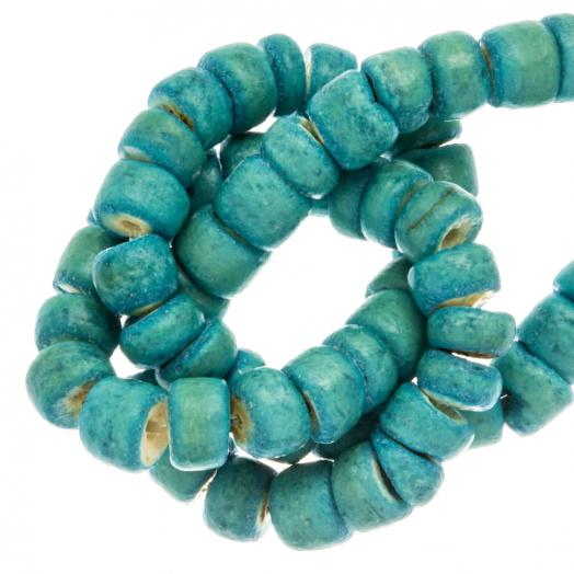 Kokos Perlen (4 - 5 mm) Turquoise (110 Stück)