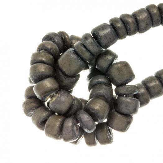 Kokos Perlen (4 - 5 mm) Grey Taupe (110 Stück)