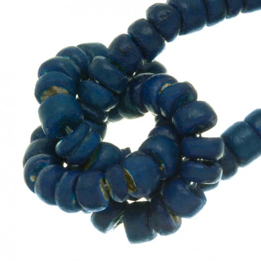 Kokos Perlen (4 - 5 mm) Deep water Blue (110 Stück)