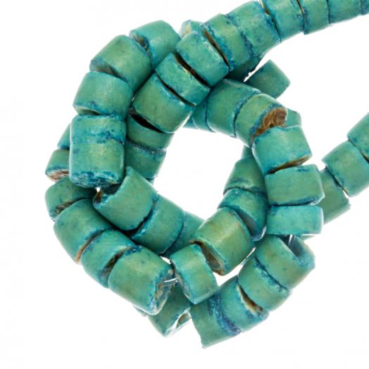 Kokos Perlen (4 - 5 mm) Turquoise (120 Stück)