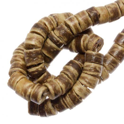Kokos Perlen (4 - 5 mm) Tiger (120 Stück)