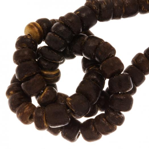 Kokos Perlen (4 - 5 mm) Natural Brown (110 Stück)