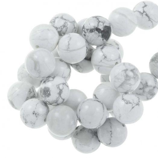 Howlite  Perlen (8 mm) 45 Stück