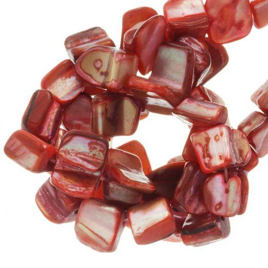 Muschelperlen (8 x 8 mm) Red (48 Stück)