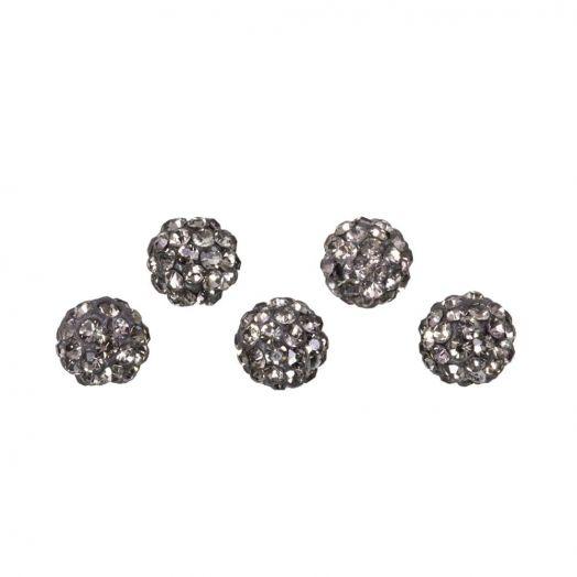 Shamballa Perlen (4 mm) Black Diamond (5 Stück)