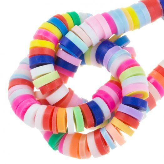 Perlenmischung - Polymer Perlen (4 x 1 mm) Mix Color (350 Stück)