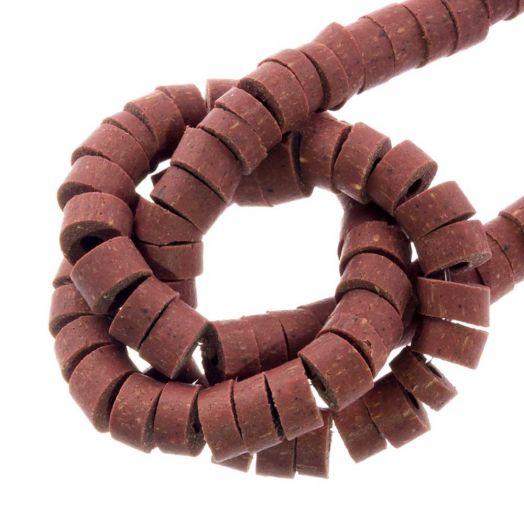 Polymer Perlen (6 x 3 mm) Pale Rouge (115 Stück)