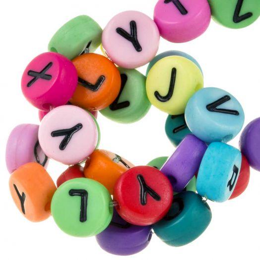 Acryl Mix Buchstabenperlen (7 x 4 mm) Mix Color (350 Stück)