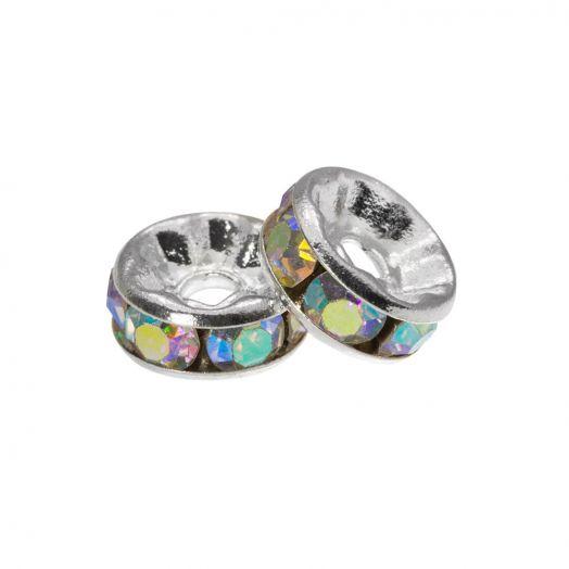 Strasssteinperlen (4 x 2 mm) Crystal Shine (10 Stück)