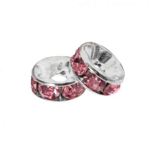 Strasssteinperlen (4 x 2 mm) Pink (10 Stück)